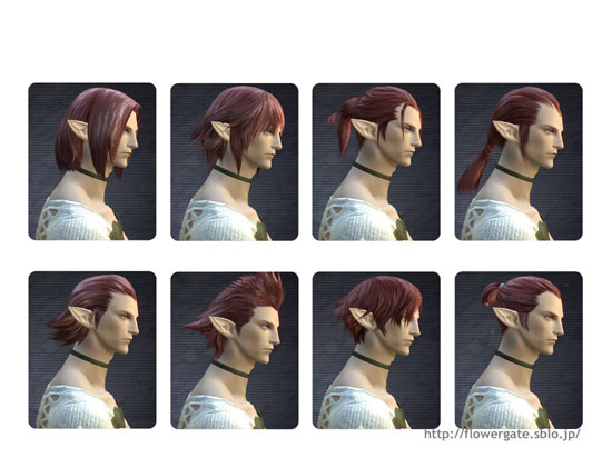 まあ髪型は11とほぼ変わらず。F5が短髪に、F8が髭無しになった感じです。